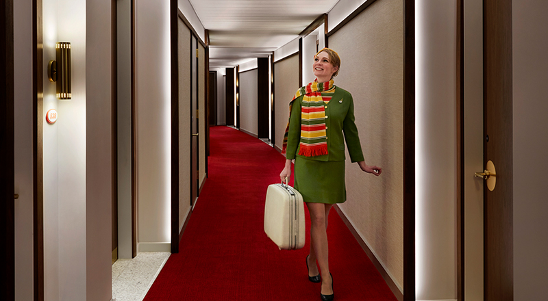 TWA Hotel Model Room Hallway