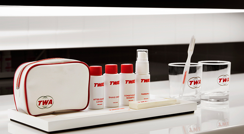 TWA Hotel Model Room Amenities