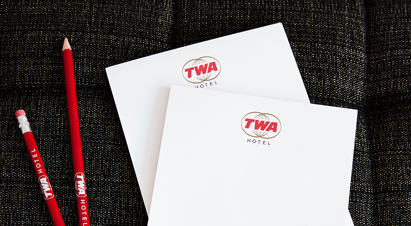 TWA Hotel Model Room Stationery