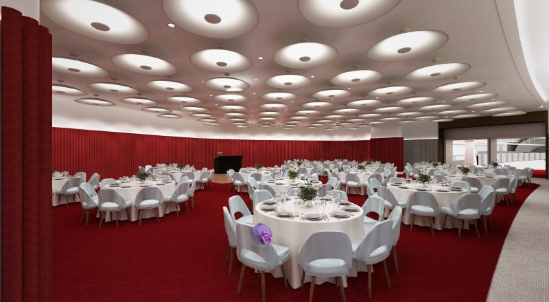 The 1962 Room at the TWA Hotel Gala Setting
