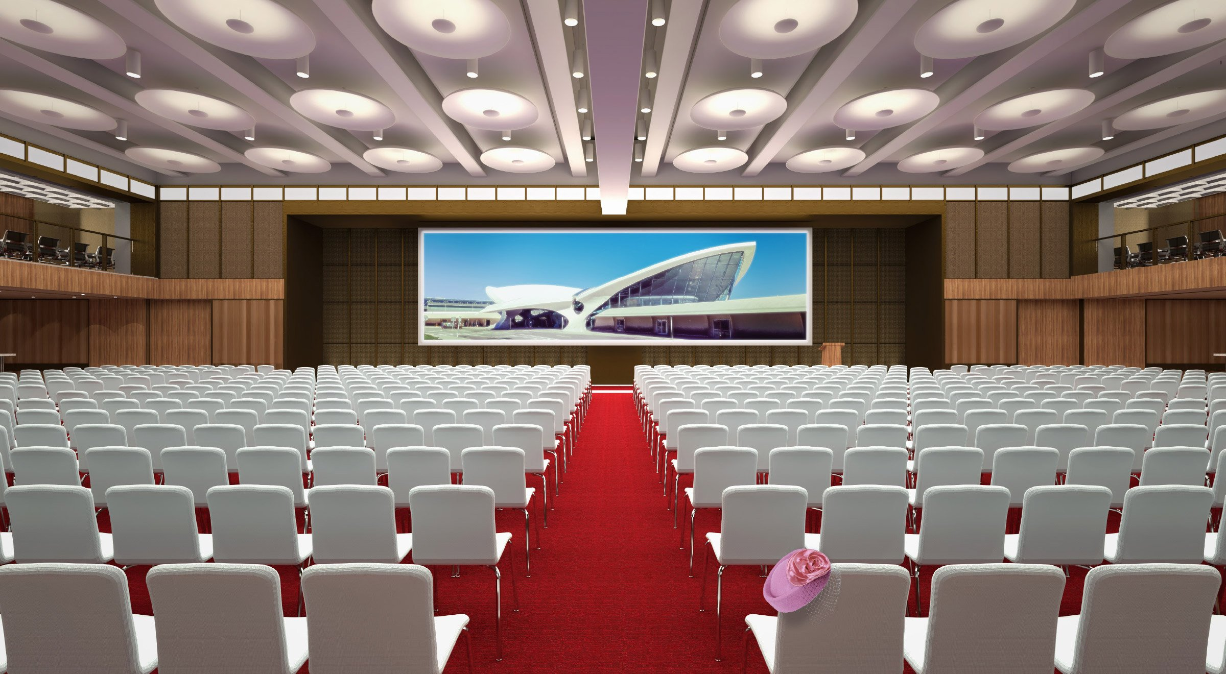 The Constellation Ballroom at the TWA Hotel Theater Setting