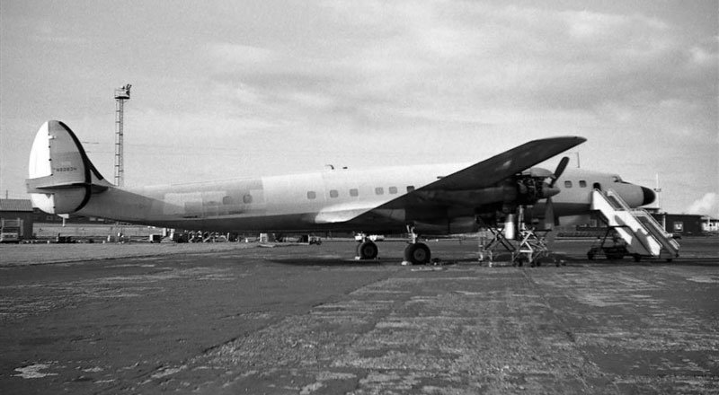 Connie in Prestwick, Scotland, in May 1962; photo by Iain C. MacKay.