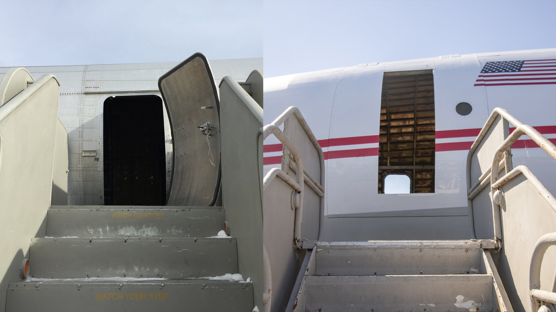 TWA_Connie_BeforeandAfter_PlaneDoor