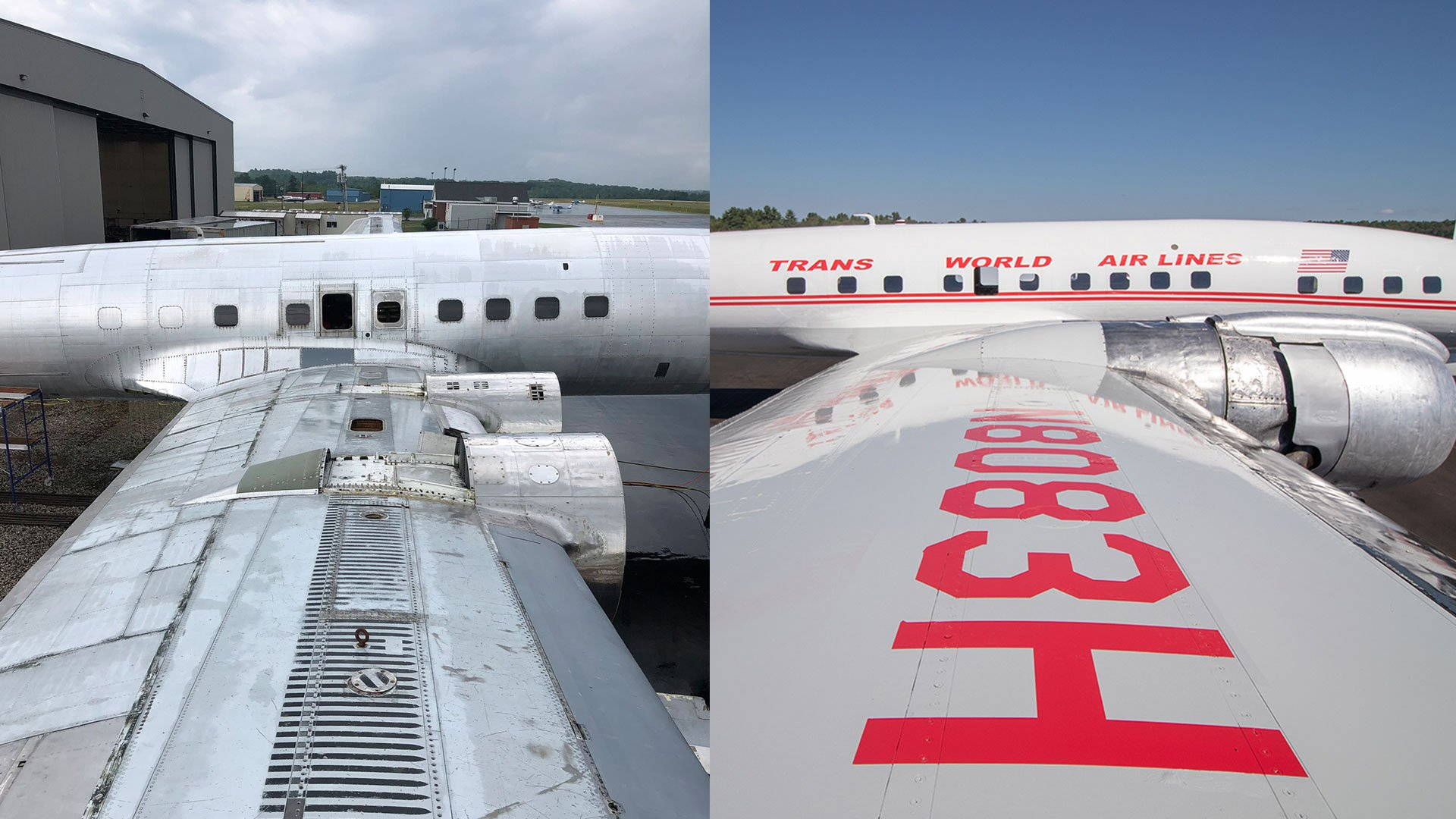 TWA_Connie_BeforeandAfter_PlaneWingDetail