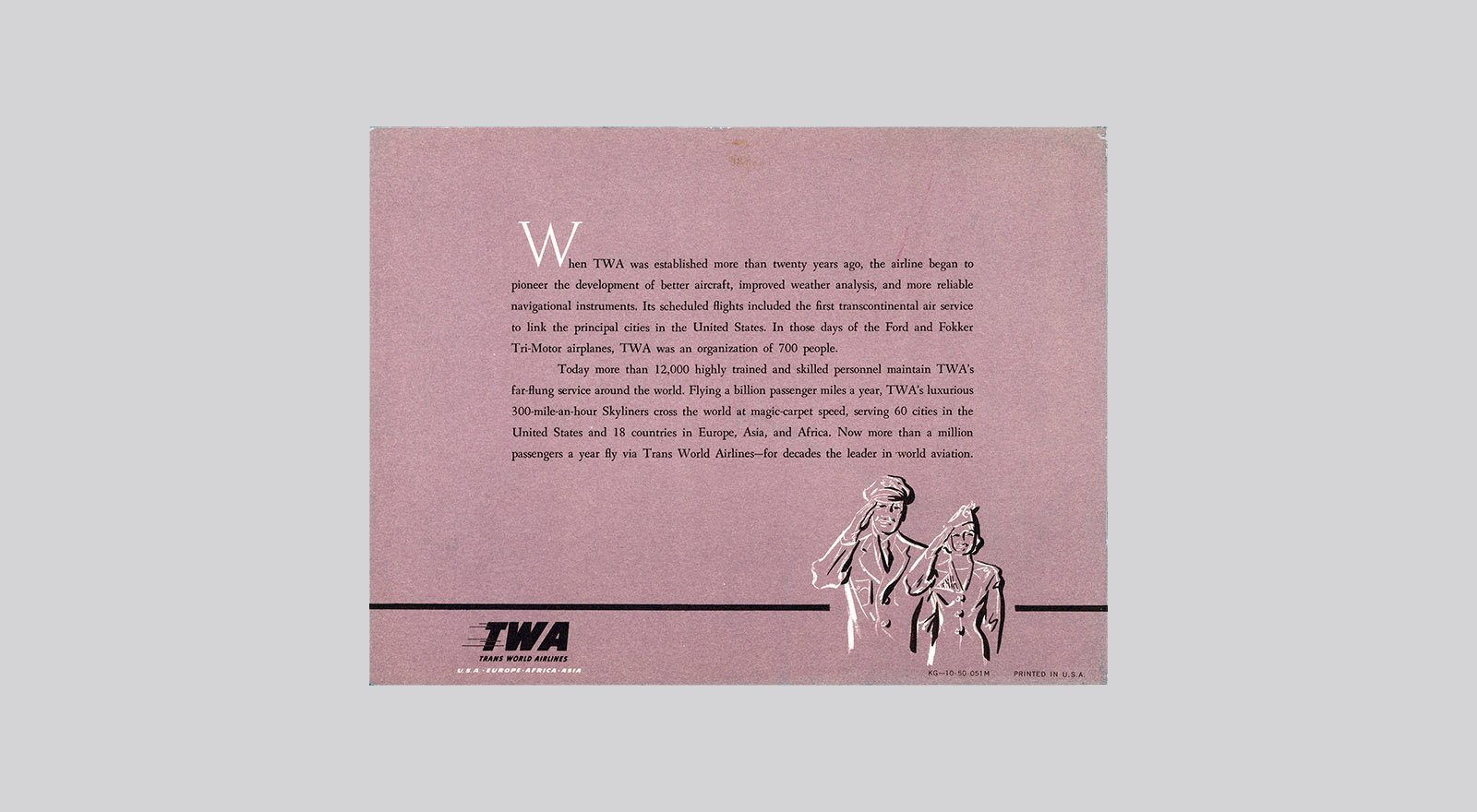 TWA Connie Has Style Book Back Cover