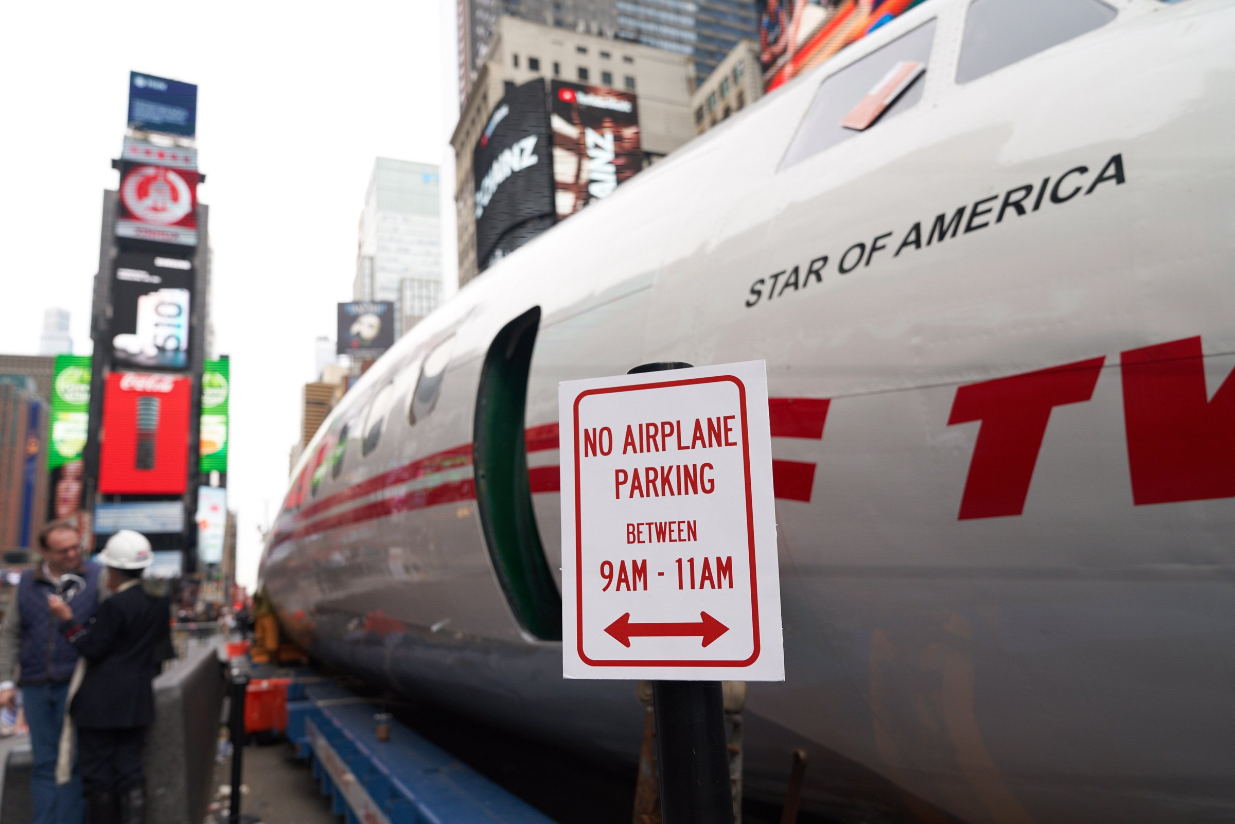 Like many New Yorkers, Connie flouted a no-parking sign in Times Square — and landed herself a (faux) ticket on March 24, 2019.