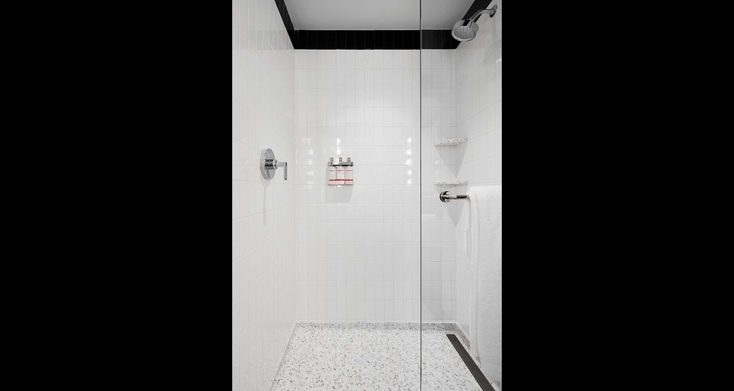 Standard guestroom shower