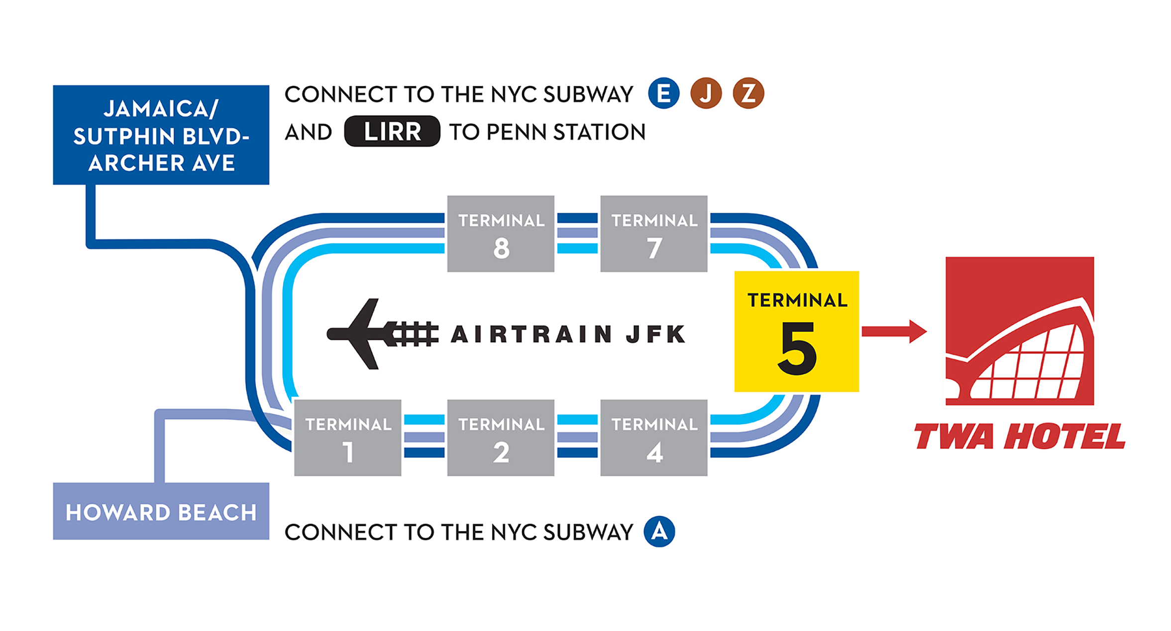 AirTrain Map to TWA Hotel