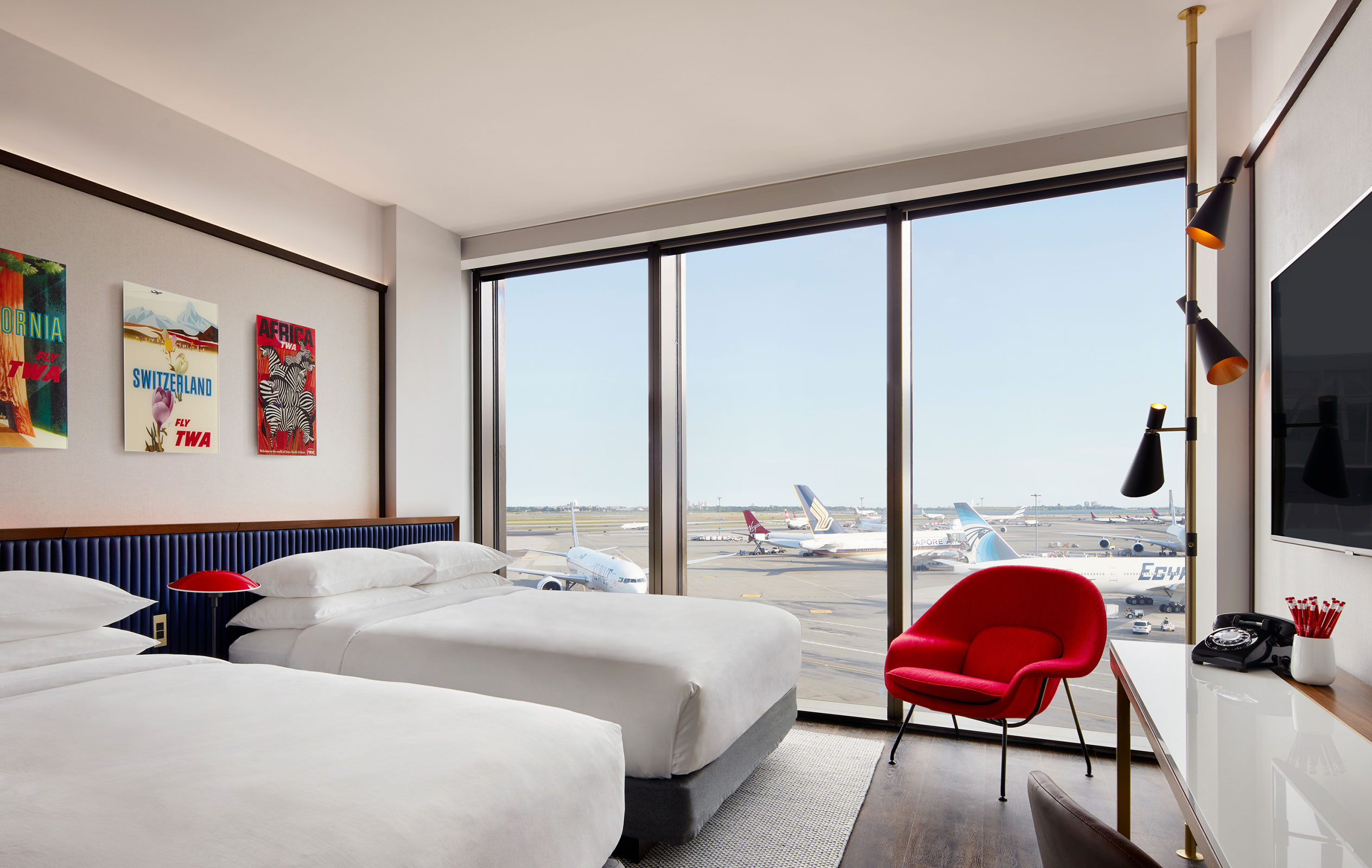 TWA Hotel Deluxe Double Queen With Runway View