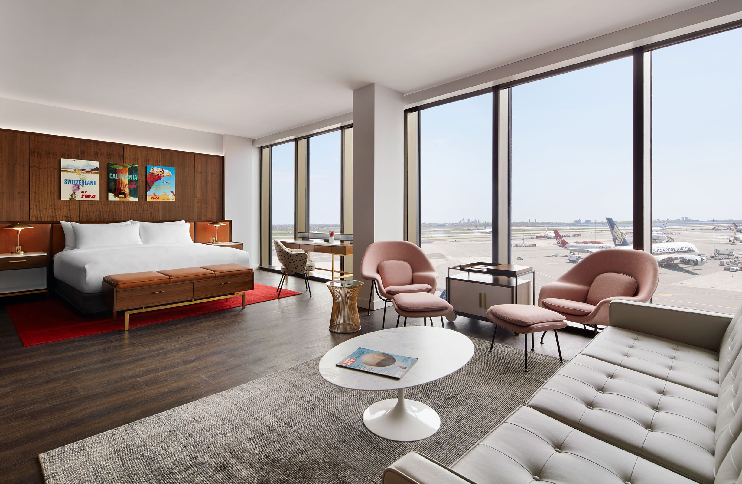 TWA Hotel Howard Hughes Presidential Suite With Runway View